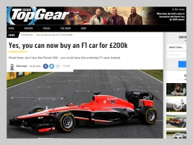 John Pye Luxury Assets - Top Gear Formula 1