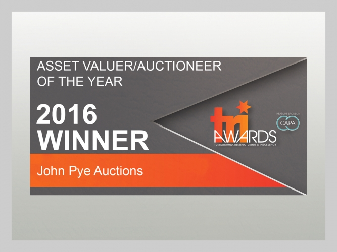 John Pye - Asset Valuer Auctioneer of the year 2016 - Winner