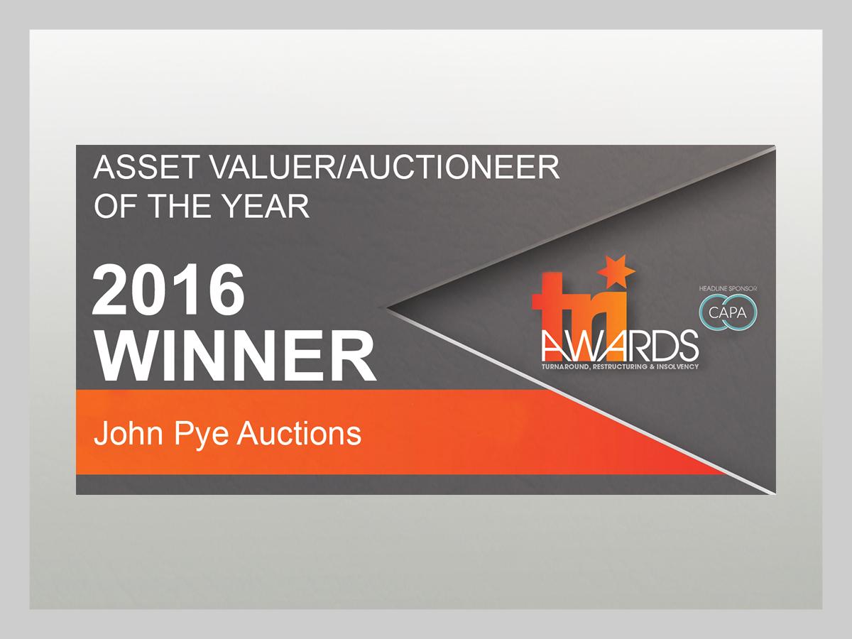 John Pye - Asset Valuer Auctioneer of the year 2016 - Winner