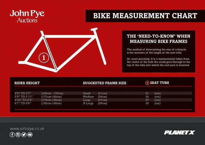 John Pye - Bike Measurement Chart