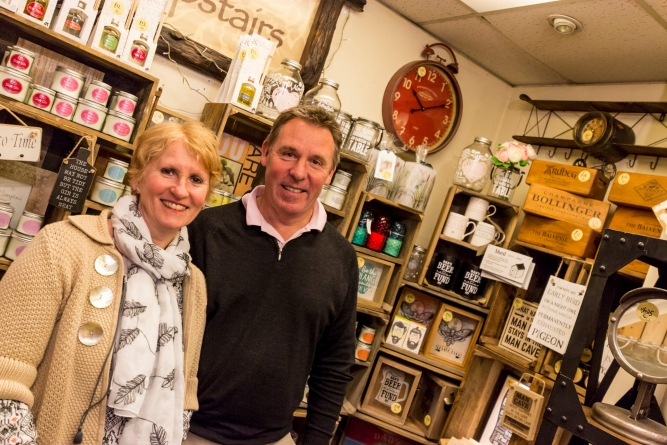 Sundial john pye business of the month - Mark and Julia inside the shop
