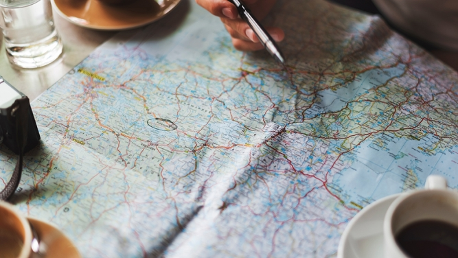 Maps for travel essentials - John Pye